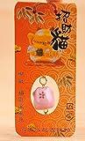 Maneki Neko Spardose mit Glocken - Winkekatze aus feinem Porzellan - (Groß (19 cm))