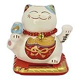 maneki-neko Mobile Solar Energie Katze Glücksbringer Keramik Model F