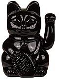 Bada Bing Design Winkekatze Lucky Cat Schwarz Ca. 20 cm Hoch Angesagte Dekoration Deko Figur China Katze 20