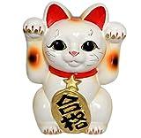 Made in Japan Neko Winkekatze Maneki Neko Tokoname Goukaku 15.49 cm Porzellan