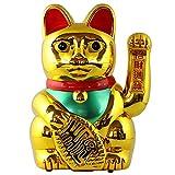 Superfreak Glückskatze - Maneki-Neko - Winkekatze - 30 cm - Gold