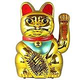 Superfreak Glückskatze - Maneki-Neko - Winkekatze - 40 cm - Gold