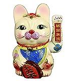 HAAC Winkekatze Glückskatze Glücksbringer Keramik Farbe bunt 25 cm