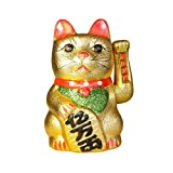 Groß GOLDEN Geld Glücksbringer Katze Maneki Neko